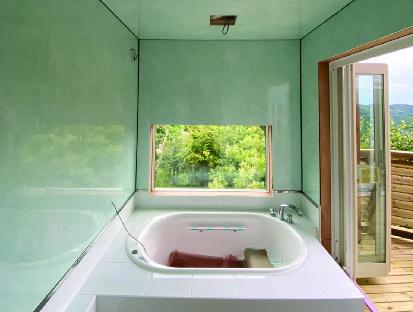 浴室工事の様子です