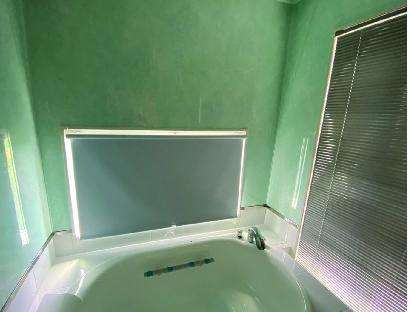 浴室ブラインド、スクリーン取付けしました